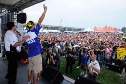 Valentino Rossi, Fiat Yamaha Team at the fan stage