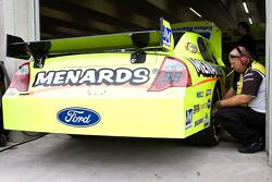 Yates Racing Ford crew member at work