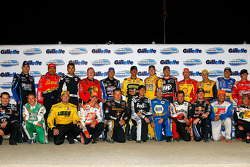 Drivers participating in the Gillette Young Guns Prelude to the Dream pose for a photo before the start