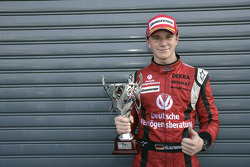 Nico Hulkenberg celebrates winning the 2009 GP2 championship