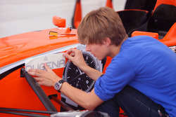 Decals applied to the car of Philipp Eng