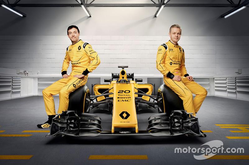 Kevin Magnussen, Renault Sport F1 Team y Jolyon Palmer, Renault Sport F1 Team