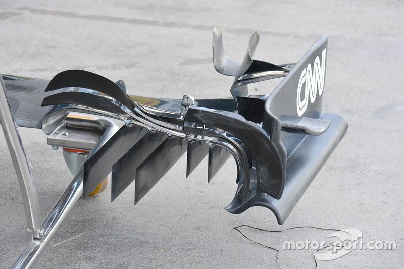 McLaren, dettaglio ala anteriore