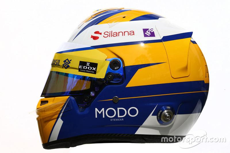 El casco de Marcus Ericsson, Sauber F1 Team