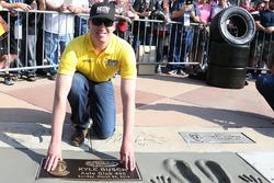 Kyle Busch, Joe Gibbs Racing, Toyota ist aufgenommen auf den Walk of Fame