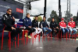 Jenson Button, McLaren; Marcus Ericsson, Sauber F1 Team; Pascal Wehrlein, Manor Racing; Felipe Nasr, Sauber F1 Team; Rio Haryanto, Manor Racing; Kimi Räikkönen, Ferrari; Sebastian Vettel Ferrari