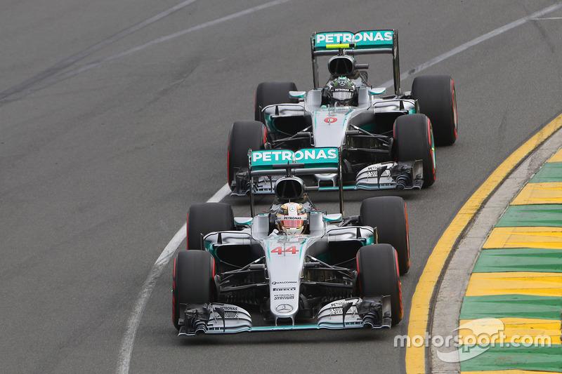 Lewis Hamilton e Nico Rosberg, Mercedes AMG F1 Team W07