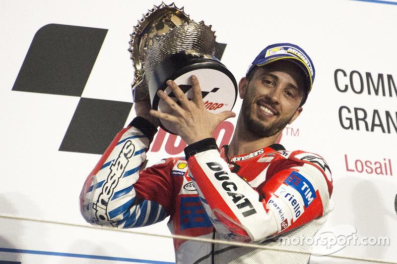 Podium: segundo, Andrea Dovizioso, Ducati Team