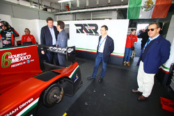 Gerard Neveu, WEC CEO with Toni Calderon, RGR Sport sporting and commercial Director, Lindsay Owen-Jones, President of the FIA Endurance Commission and Pierre Fillon, ACO President