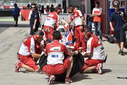 Ducati Team members at work