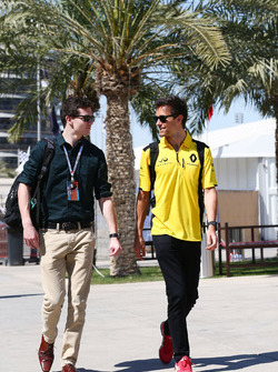 Jolyon Palmer, Renault Sport F1 Team with his brother Will Palmer