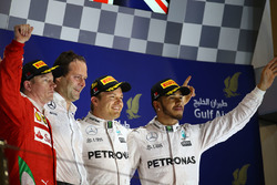 Podium: winner Nico Rosberg, Mercedes AMG F1 Team, second place Kimi Raikkonen, Ferrari, third place Lewis Hamilton, Mercedes AMG F1 Team