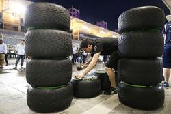 Mercedes AMG F1 Team mechanics at work