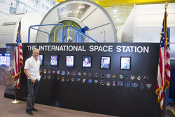Kevin Schwantz during a visit to the NASA Johnson Space Center