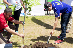 Jorge Lorenzo, Yamaha Factory Racing pflanzt einen Baum am COTA