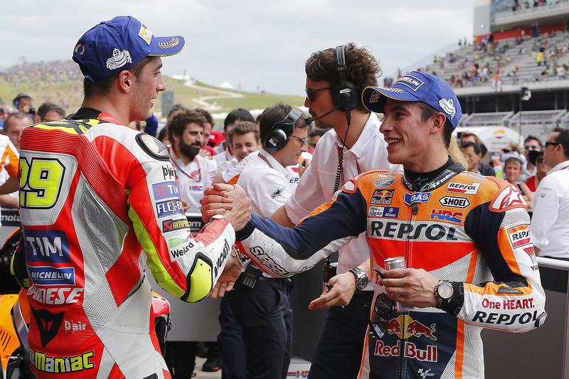 Race winner Marc Marquez, Repsol Honda Team, third place Andrea Iannone, Ducati Team