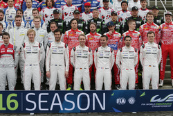 Porsche Team: Brendon Hartley; Mark Webber; Timo Bernhard; Romain Dumas; Neel Jani; Marc Lieb