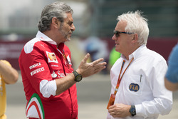 Arrivabene y Charlie Whiting