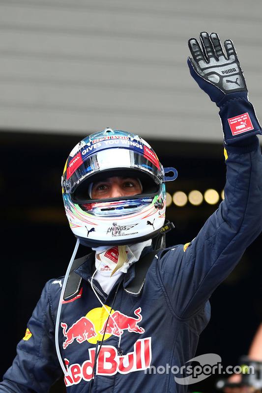 segundo lugar Daniel Ricciardo, Red Bull Racing