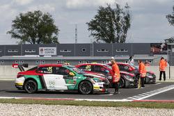 Меди Беннани, Sébastien Loeb Racing, Citroën C-Elysée WTCC; Хосе-Мария Лопес, Citroën World Touring Car Team, Citroën C-Elysée WTCC; Иван Мюллер, Citroën World Touring Car Team, Citroën C-Elysée WTCC