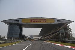 Vista de la parrilla de salida Circuito de Shangai