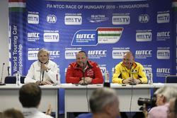 Alessandro Mariani, Takım Patronu Honda Team JAS; Yves Matton, Citroen Racing; Viktor Shapovalov, Lada Sport Rosneft