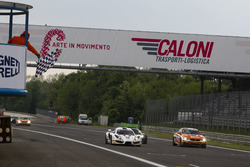 Checkered flag for Hendrik Still, Andreas Guelden, Sofia Car Motorsport, Sin R1 GT4