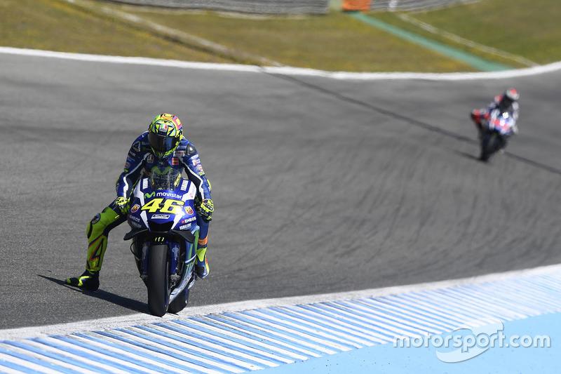 Valentino Rossi, Yamaha Factory Racing et Jorge Lorenzo, Yamaha Factory Racing