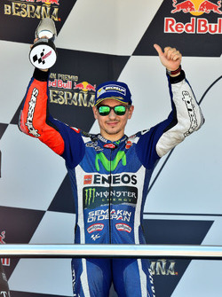 Podium: segundo, Jorge Lorenzo, Yamaha Factory Racing