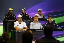Conferencia de prensa: Felipe Nasr, Sauber, Sergio Perez, Sahara Force India F1, Esteban Gutiérrez, Haas F1 Team, Jenson Button, McLaren, Nico Rosberg, Mercedes AMG F1 Team y Daniil Kvyat, Red Bull Racing