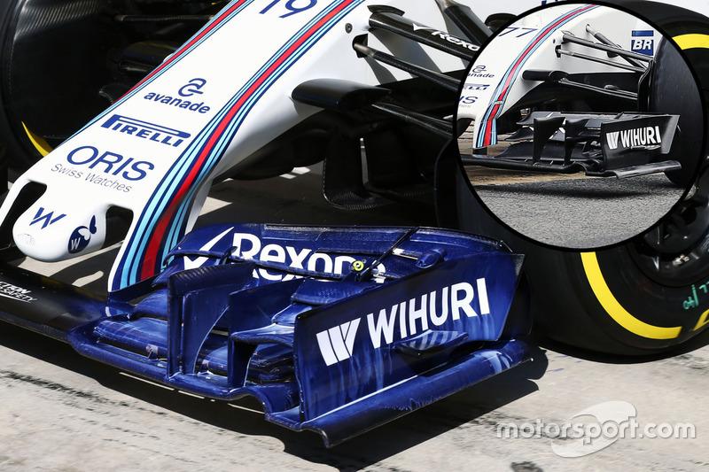 Frontflügel des Williams FW38