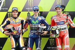 Polesitter Jorge Lorenzo, Yamaha Factory Racing, tweede Marc Marquez, Repsol Honda Team, derdeAndrea Iannone, Ducati Team