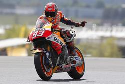 Marc Marquez, Repsol Honda Team mit kaputten Motorrad