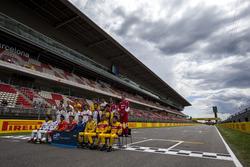 Conductores posan para la foto de clase de GP2 Series
