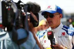 Marcus Ericsson, Sauber F1 Team con i media