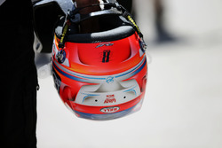 The helmet of Romain Grosjean, Haas F1 Team VF-16