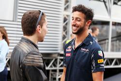 (L to R): Jorge Lorenzo, Moto GP Rider with Daniel Ricciardo, Red Bull Racing