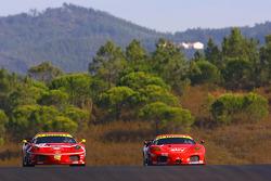 #78 BMS Scuderia Italia Ferrari F430: Ettore Bonaldi, Diego Romanini, #56 CRS Racing Ferrari F430: Andrew Kirkaldy, Rob Bell