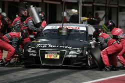 Pit stop for Timo Scheider, Audi Sport Team Abt Audi A4 DTM