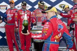 Victory lane: race winner Mark Martin, Hendrick Motorsports Chevrolet celebrates