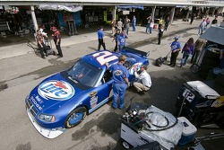 The Miller Lite Dodge travels through inspection