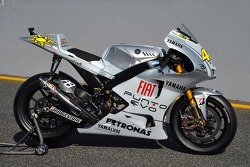 The Yamaha 99 YZR-M1 in its special 'Fiat Punto Evo' livery
