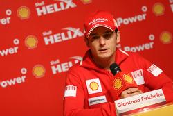 Giancarlo Fisichella, Scuderia Ferrari, Shell press conference