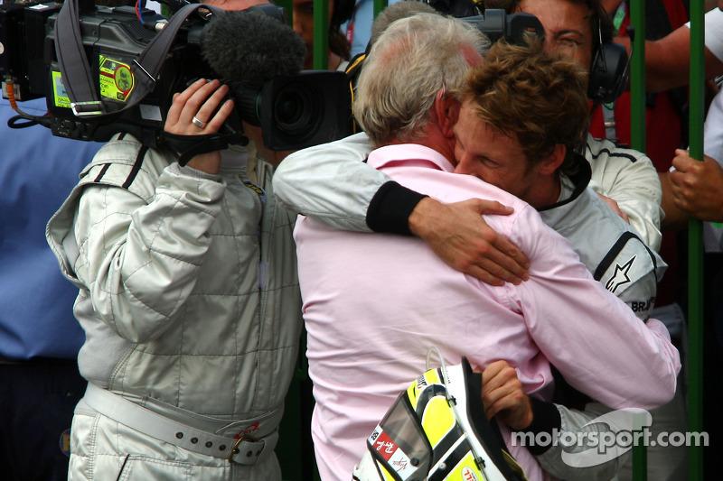 Jenson Button mit seinem Vater John Button