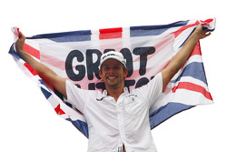 Jenson Button, Brawn GP, feiert den Titelgewinn