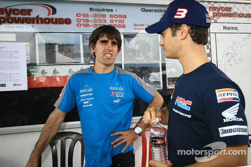 Evento de Go-kart: Dani Pedrosa con Julian Simone