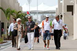 Jorge father of Adrian Sutil, Force India F1 Team, Adrian Sutil, Force India F1 Team