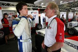 Jolyon Palmer talks with Jonathan Palmer Motorsport Vision Chief Executive