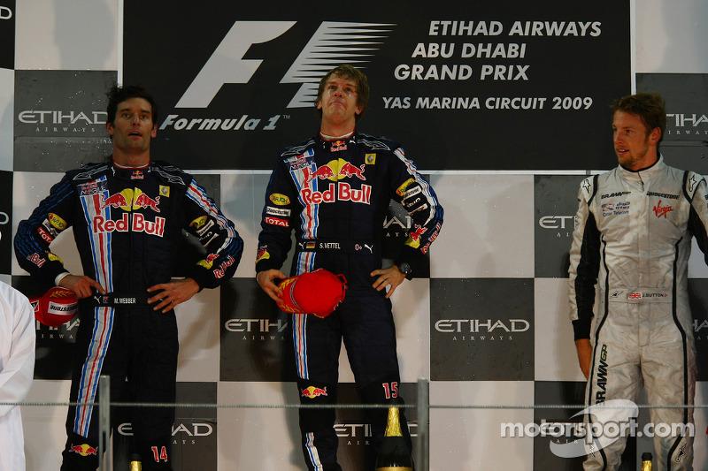 2009: 1. Sebastian Vettel, 2. Mark Webber, 3. Jenson Button