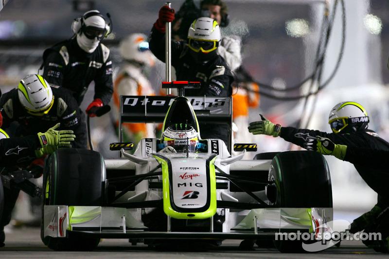 Jenson Button, Brawn GP en un pitstop